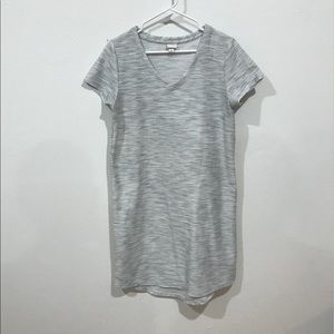Grey and white marbled T-shirt dress
